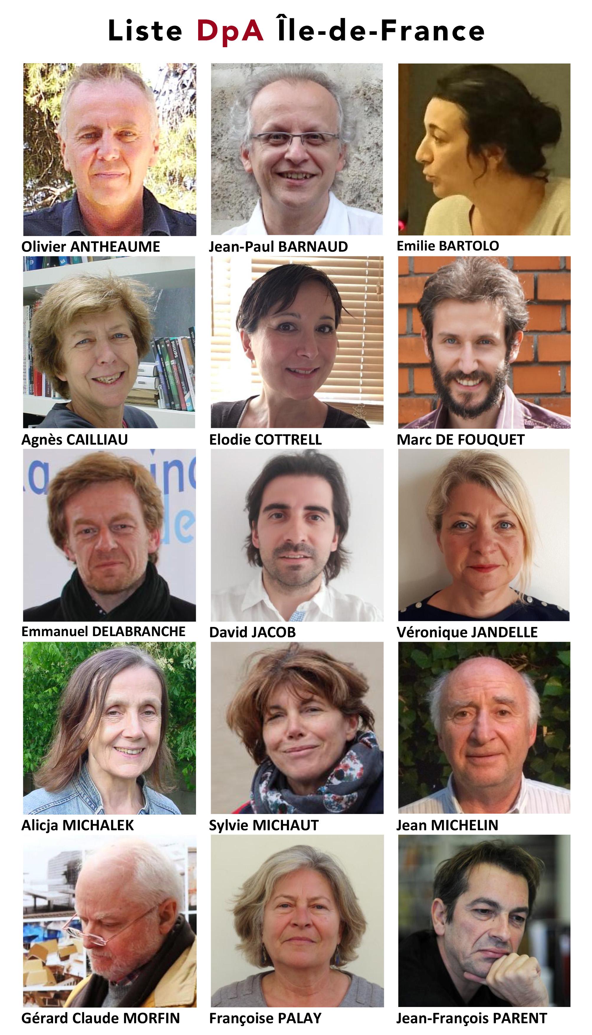 Région IdF - Liste DpA - Élections ordinales 2017