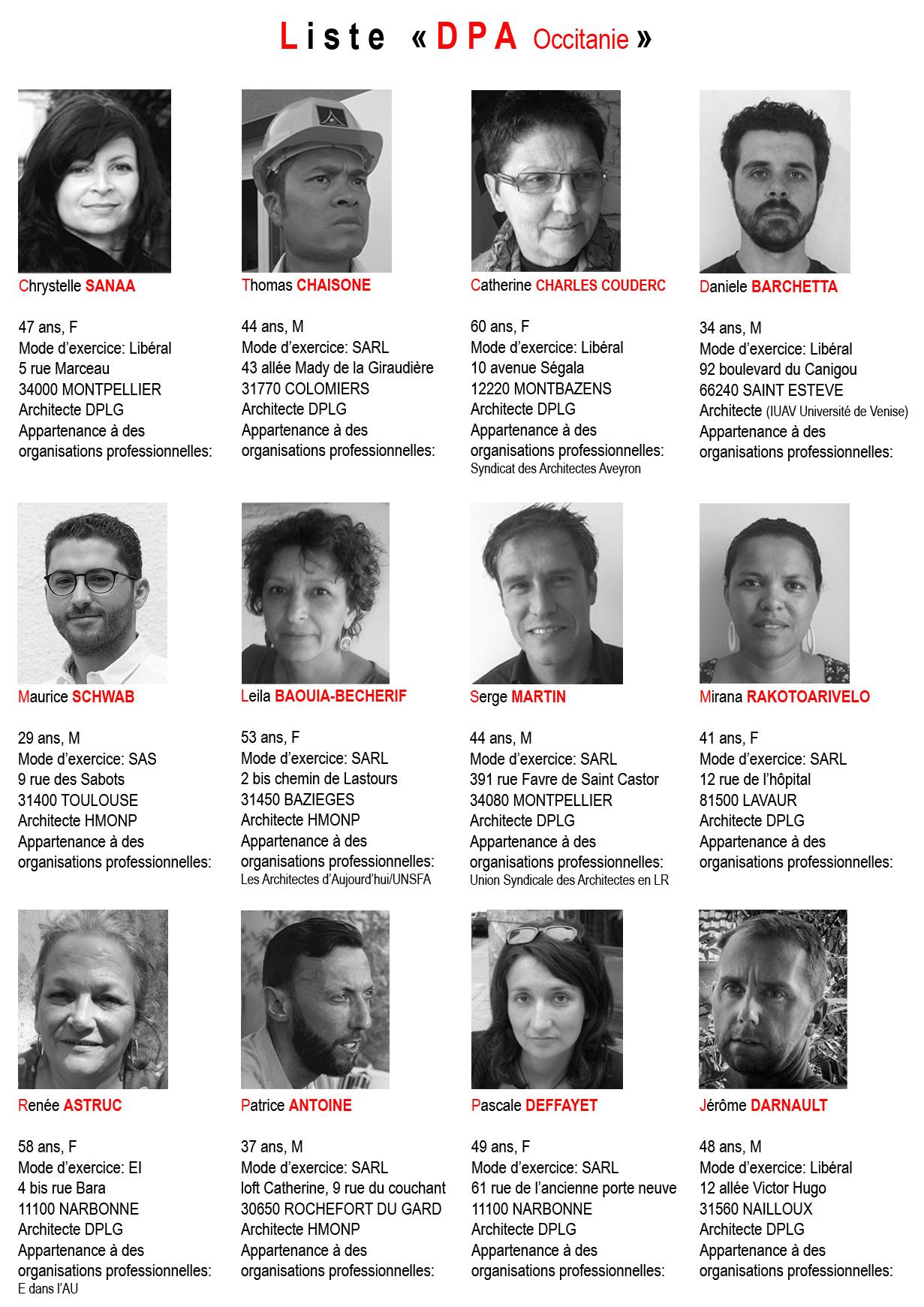 Région Occitanie - Liste DpA - Élections ordinales 2017