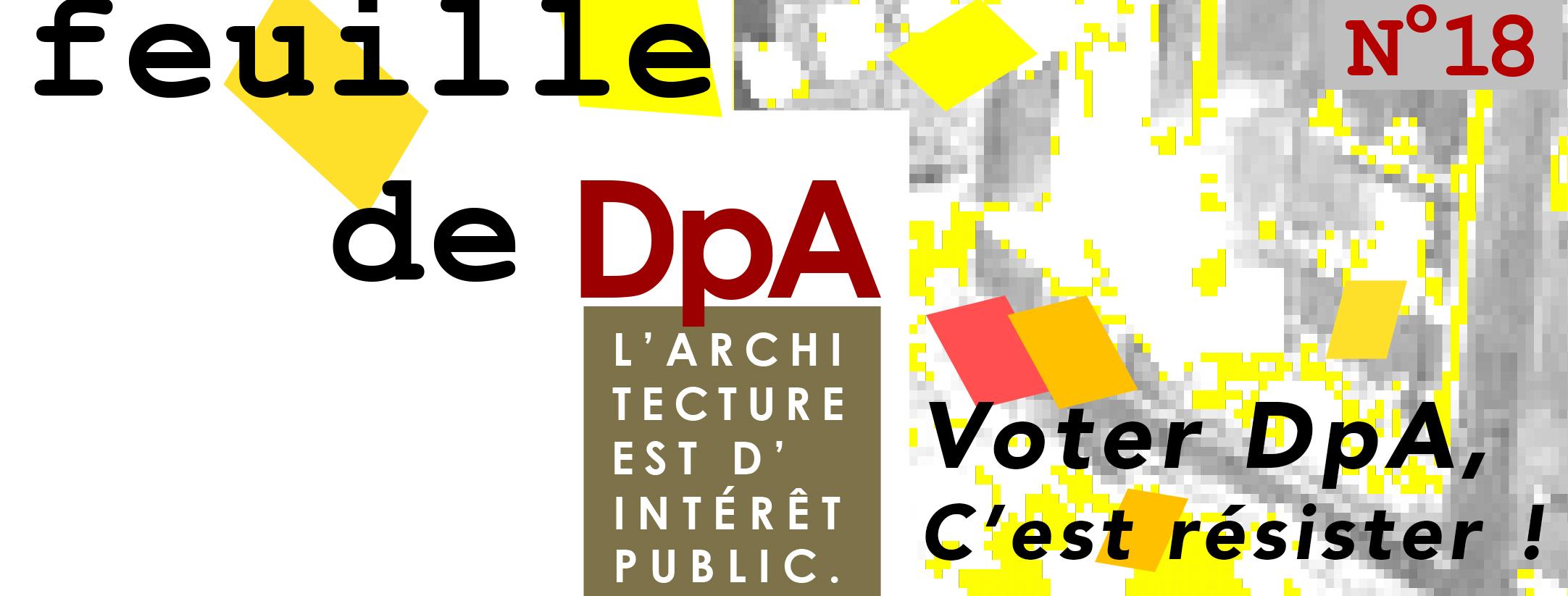 Bandeau Feuille #18 - Voter DpA, c'est résister !