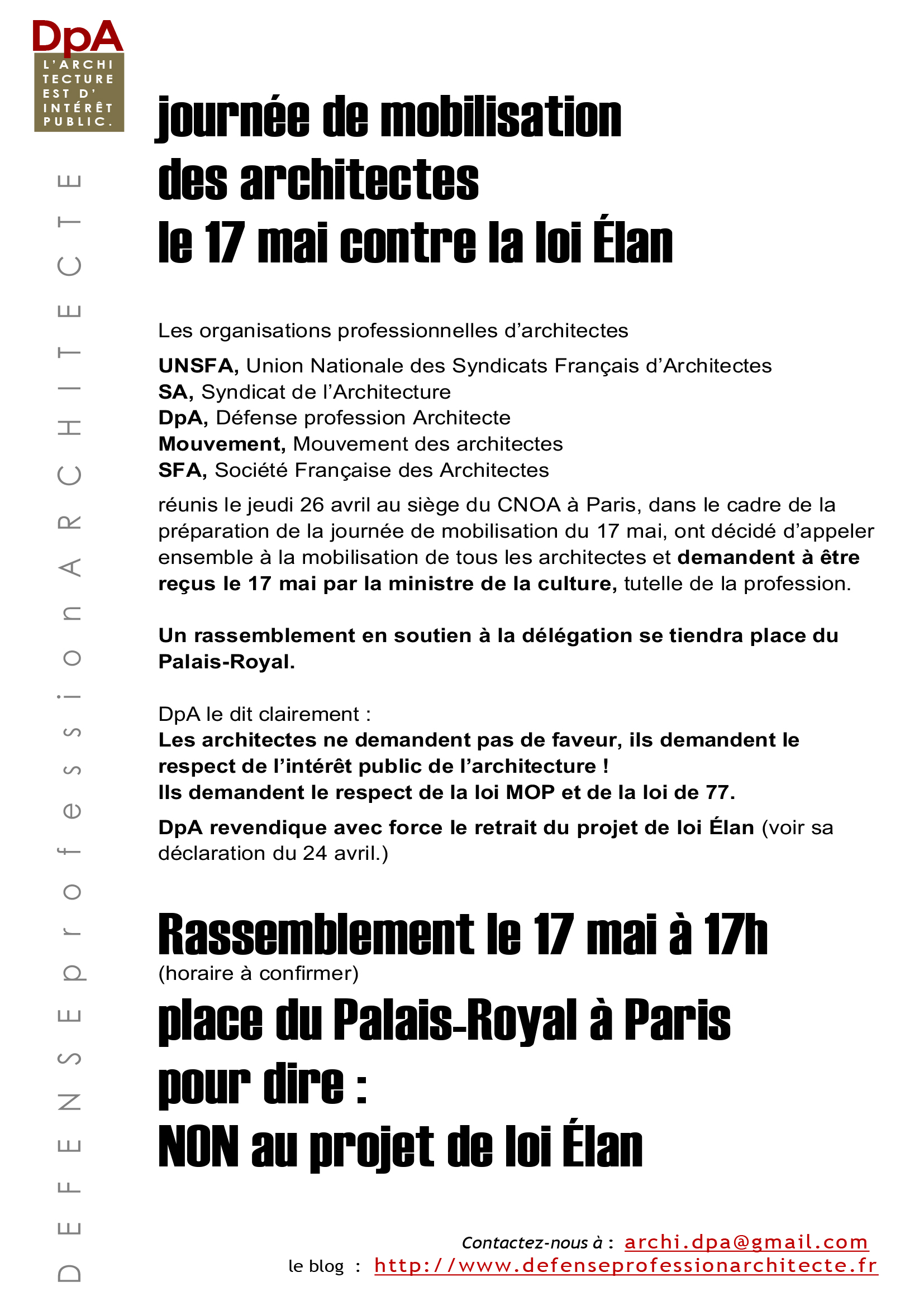 Appel mobilisation 17 mai